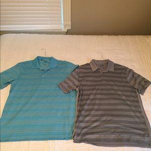 2 Shirt Bundle Adidas Golf Polos Climalite dri-Fit